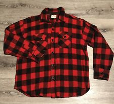 Vintage Chill Chaser By Blue Top Buffalo Plaid Wool Flannel Button Down Medium
