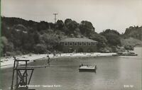 Vintage Real Photo RPPC California CA Postcard Lake Temescal Oakland Dock Diving