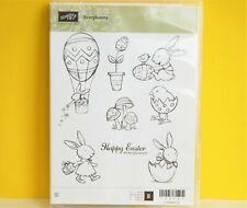 RETIRED Stampin Up Everybunny set Easter Bunnies stamps Eggs Basket Balloon RARE