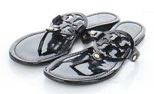 22-69 $198 Women's Sz 8 M Tory Burch Miller Patent Leather Flip Flop Sandals