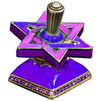 Hanukkah Star of David Dreidel with Stand - Jewish Holiday of Lights Gift