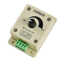 Dimmer Controller LED Light Lamp Strip Adjustable Brightness 12V-24V 8A