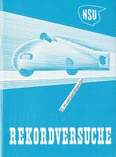 NSU-Record tentatives-NSU SERVICE de PRESSE - 1951-Allemand-NL-correspondance