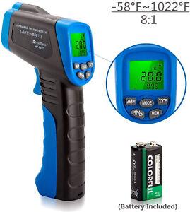 Digital IR Infrared Laser Gun Temperature Thermometer Heat Thermal Sensor Gauge