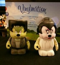 "DISNEY Vinylmation 3"" Park Set 1 Spooky Mickey Minnie Mouse Frankenstein Bride"
