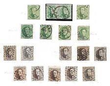 Belgium stamps 1863 Collection of 16 stamps + 1 PAIR  Cat Value $370+