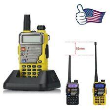 Baofeng UV-5R Plus Yellow V/UHF Dual Band Two-way Ham Radio + 18cm Antenna USA
