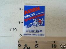 STICKER,DECAL ASSEN IJSSPEEDWAY HALVE FINALE WK 1983 HOLLAND, ICESPEEDWAY