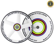 Superteam Front Five Spokes Rear Disc Carbon Wheelset Road Bike Wheels TT Bike