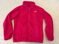 The North Face Oso Jacket Pink Girls Soft Fleece Full Zipper