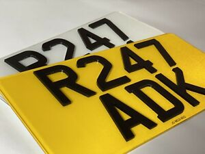 4D Laser Cut pair 12 X 6 American Import USA Number Plates 100% MOT Compliant