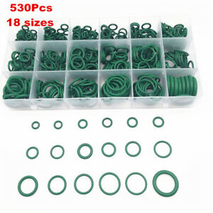 530 Piece HNBR Air Conditioning O-Ring Assortment Kit Universal For Car SUV