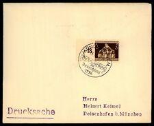 """3. REICH BRIEF 1936 SStpl. """"MÜNCHEN - DAS BRAUNE BAND"""" h2053"""