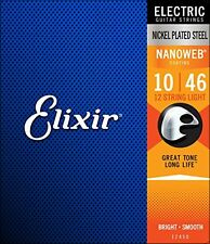 Elixir Strings Electric Guitar with NANOWEB Coating 12 String Light .010 .046