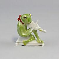 9986252 Porzellan Figur Frosch mit Geige Lindner H6,5cm