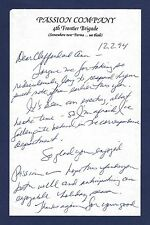 """Donna Murphy (Signed) Note on """"PASSION"""" Stationery 1994 Stephen Sondheim Reviews"""