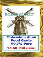 Holland and Barrett Potassium Alum, 16oz (450 grams), Food Grade 99.7% Pure 1 lb