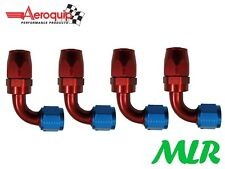 AEROQUIP AN-6 JIC 90° 90DEG FEMALE FUEL HOSE PIPE UNION FITTING FBM4032 SET OF 4