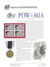 #459 32c POW and MIA #2966 USPS Commemorative Stamp Panel