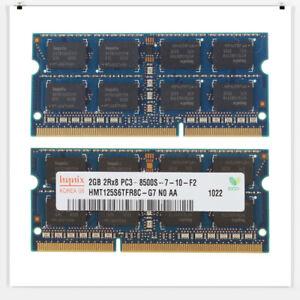 4GB Kit (2 X 2GB) PC3-8500S 2RX8 DDR3 1066MHz SO-DIMM 204 PIN Laptop Memory RAM