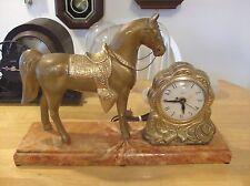 United  Horse Clock United clock Co. Electric. Bakelite Bottom ( Base)