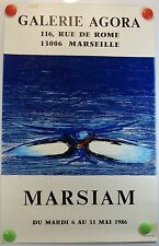 Affiche ancienne Art 1986 Galerie Agora à Marseille exposition MARSIAM /1bPB