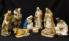 """Nativity Set 12"""" Large 9 Pieces Polyresin Set, New in Box, Baby Jesus, Christmas"""