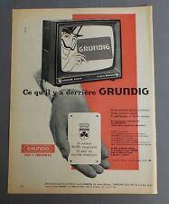 PUB PUBLICITE ANCIENNE ADVERT CLIPPING 090817 / TELEVISION ALLEMANDE GRUNDIG