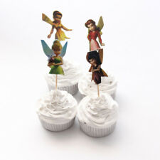 12 x Tinkerbell & Friends Fairy Cake Picks Cupcake Toppers Kids Birthday Party
