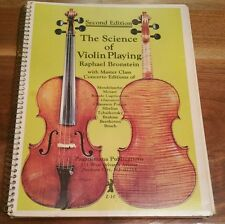 The Science Of Violin Playing, Raphael Bronstein, 1981 2nd Ed. Spiral Bound Book