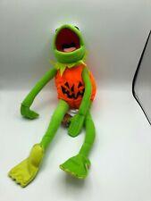 "Kermit The Frog Pumpkin Halloween Poseable 16"" Plush New w/ Tags Nwt Nanco"