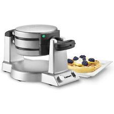 Cuisinart Double Belgian Waffle Maker Round Iron, Silver WAF-F20