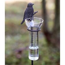 Songbird Rain Gauge Garden Stake