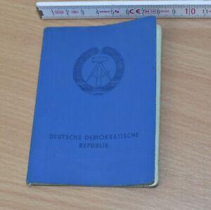 original DDR Personalausweis, männlich, 1989, ungültig, viele Stempel