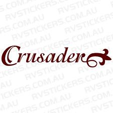 MONARCH CRUSADER WORD vintage, retro Caravan decal, sticker