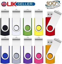 USB 2.0 1/2/4/8/16/32GB Memory Stick Flash Pen Thumb Drive PC/Mac/Audio/Video