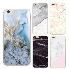 Pour iPhone 5 / 6 / 6s / 7 Coque transparent en silicone en Motif Marbre Pierre