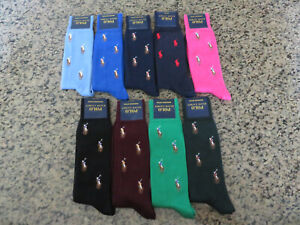 Polo RALPH LAUREN Socks All Over Pony Men's Blue/Maroon/Green/Black/Pink/Red