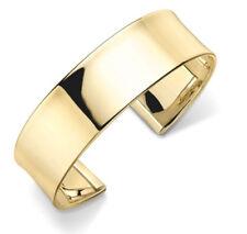 Bracciale in oro Wide Cuff COPPIA Giallo Oro Marchiato British Made 13.5 GRAMMI