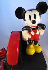 VINTAGE MICKEY MOUSE TELEPHONE   TESTED & WORKING   Walt Disney Figurine Phone