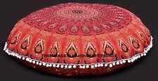 Indian Mandala Boden Kissen rot Kissenbezug indisch große Ottomane Puff Dekor