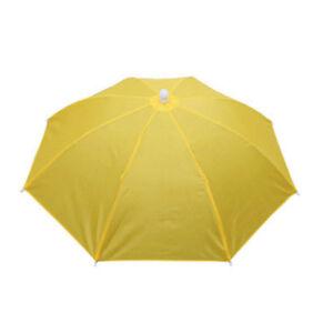 Outdoor Foldable Sun Umbrella Hat Golf Fishing Camping Headwear Cap Head Hats