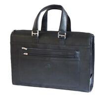 Tony Perotti Italian Leather Ladies Classic Briefcase - Black TP-9093