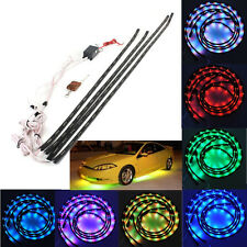 7 Color 252 LEDs Under Car Glow Neon Lights Strip Kit + Wireless Remote Control