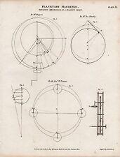 1809 ed è avvenuta georgiano stampa ~ planetaria macchine ~ meccanismo di un pianeta Orbita