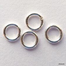 10 Sterling SilverJump Rings closed 4 mm findings 0.8mm or 20 gauge wire