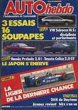 AUTO HEBDO n°509 12/02/1986 24H DAYTONA LIGIER VW SCIROCCO S16 CELICA GT