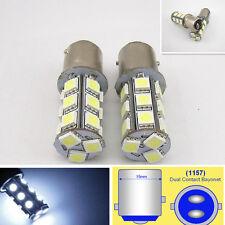 2 x 18SMD LED 5050 White Turn Signal Reversing Light Car Bulb Lamps 1157 BAY15D