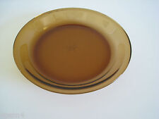 """VINTAGE ANCHOR HOCKING FIRE KING AMBER 9"""" PIE PLATE DISH # 460"""