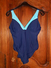 maillot de bain 1 pièce marine/turquoise taille 50/52 - neuf